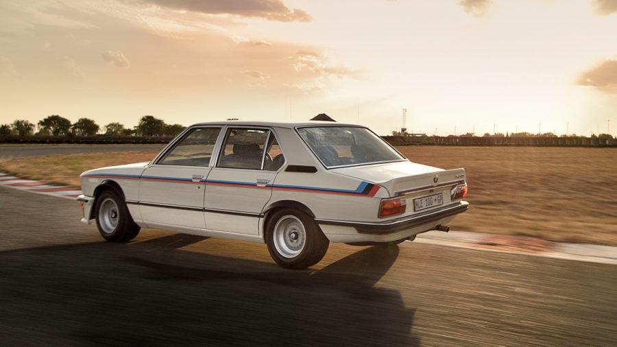 BMW-530-MLE-rear-cornering-on-track